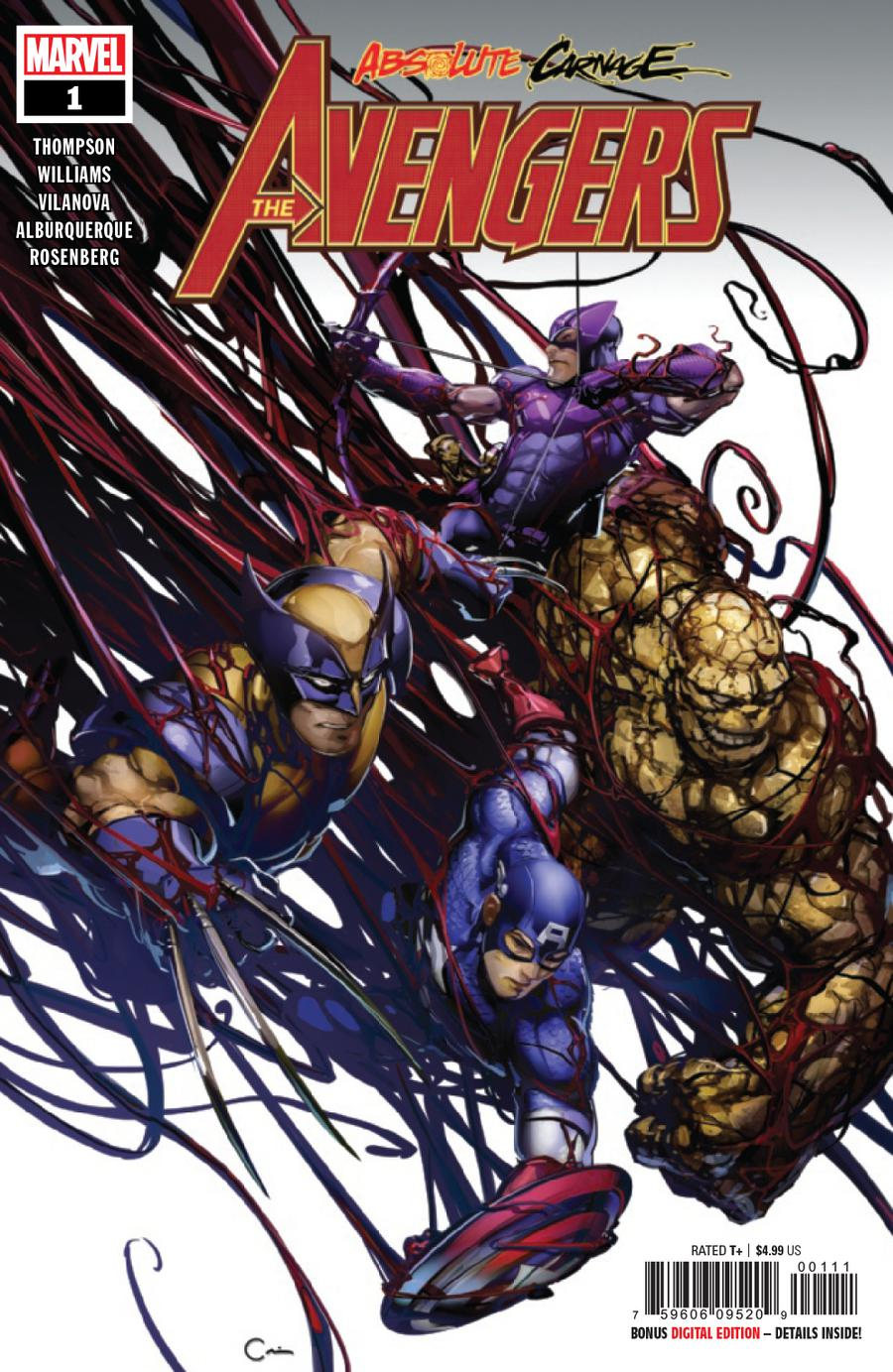 Absolute Carnage Avengers #1 Cover A Regular Clayton Crain Cover