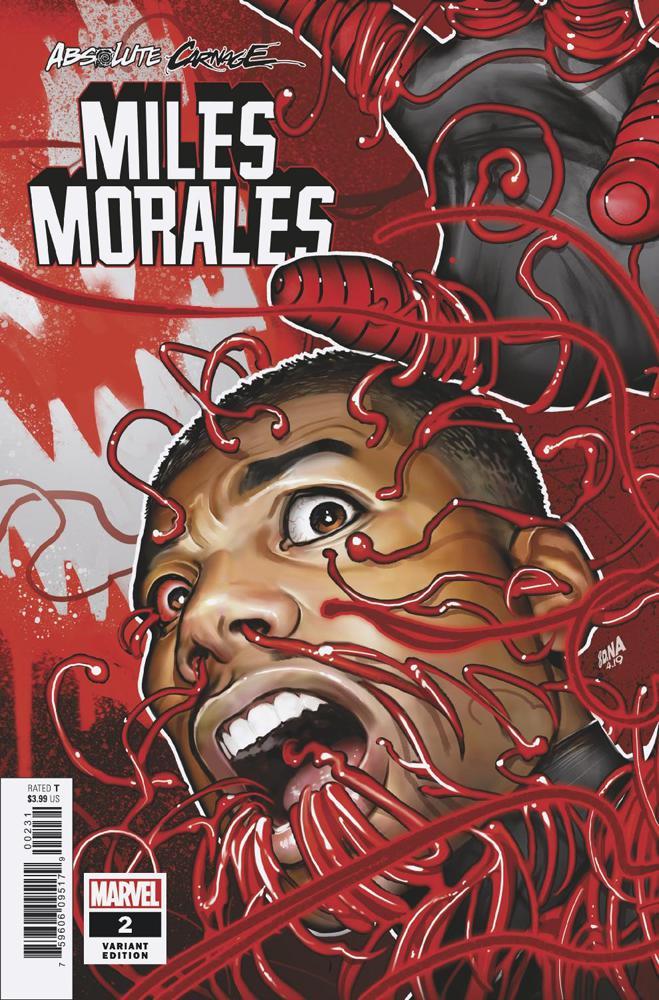 Absolute Carnage Miles Morales 2 Marvel 2019 Clayton Crain Virgin Variant