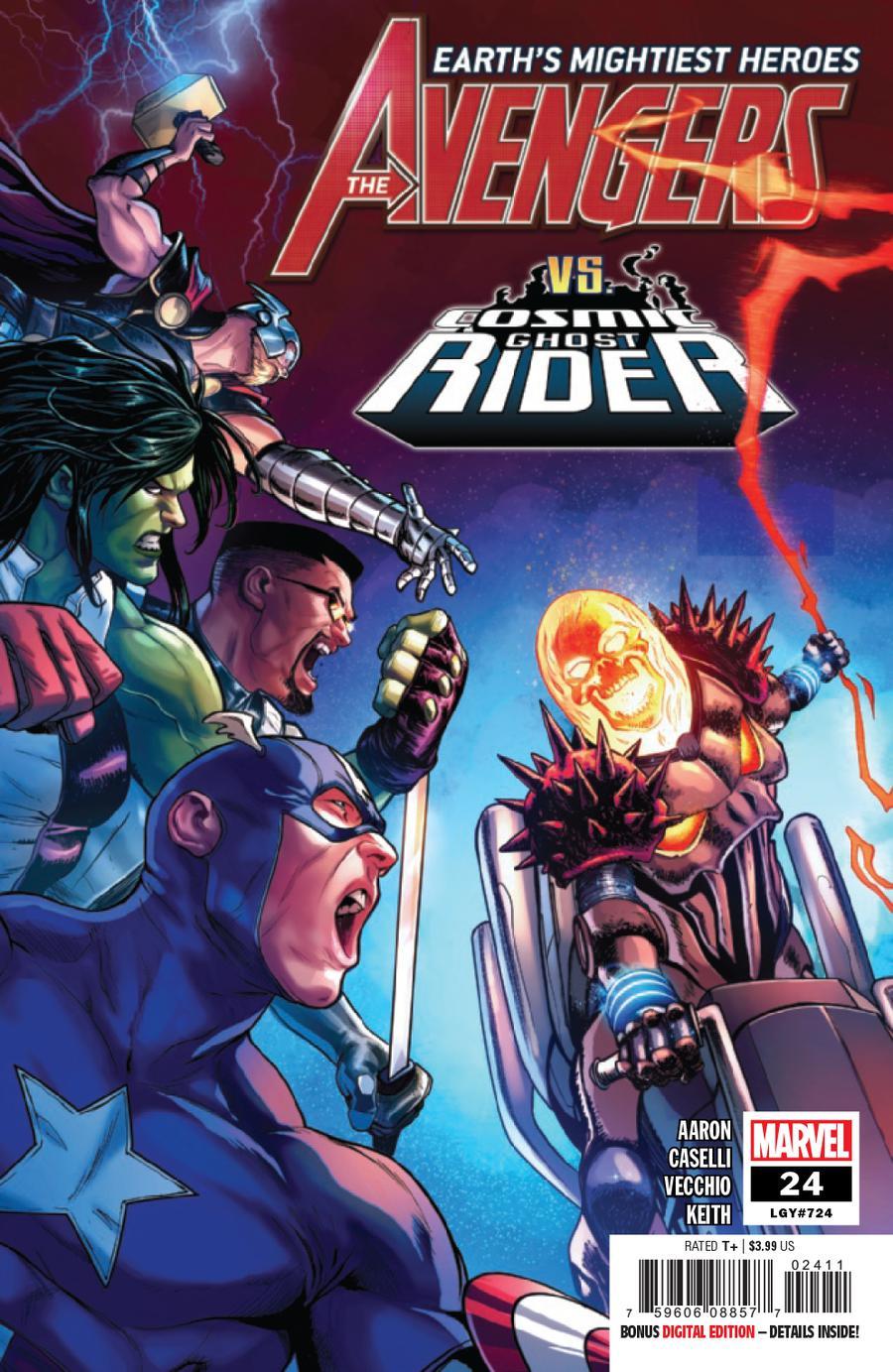 Avengers Vol 7 #24 Cover A 1st Ptg Regular Stefano Caselli Cover