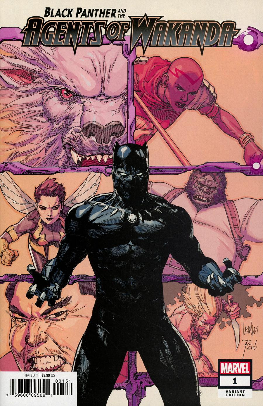 Black Panther And The Agents Of Wakanda #1 Cover B Variant Leinil Francis Yu Cover