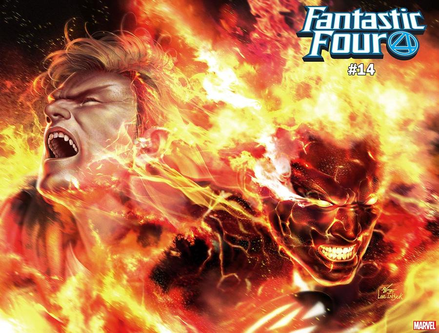 Fantastic Four Vol 6 #14 Cover C Variant Inhyuk Lee Human Torch Immortal Wraparound Cover