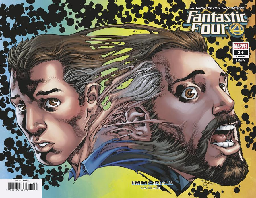 Fantastic Four Vol 6 #14 Cover D Variant Tom Raney Mr Fantastic Immortal Wraparound Cover