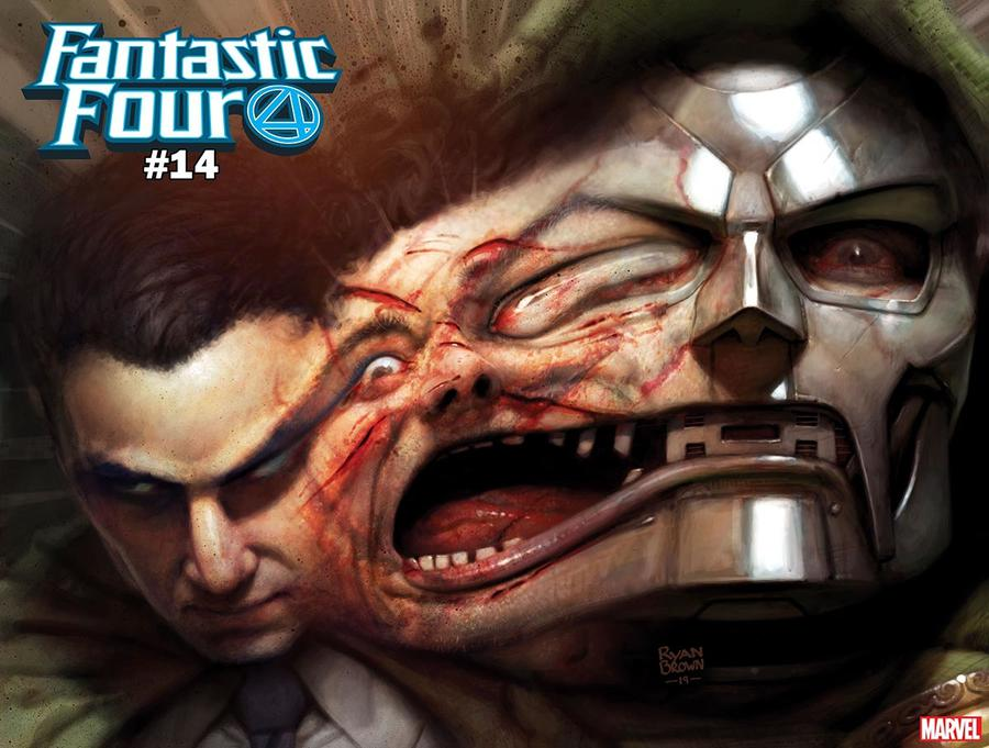 Fantastic Four Vol 6 #14 Cover F Variant Ryan Brown Doctor Doom Immortal Wraparound Cover