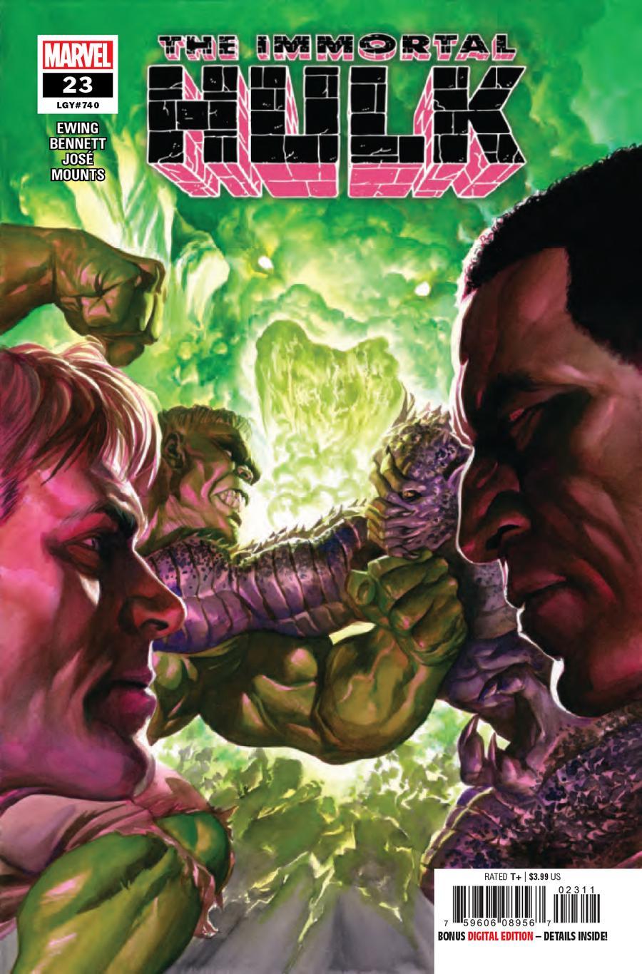 Immortal Hulk #23 Cover A 1st Ptg Regular Alex Ross Cover