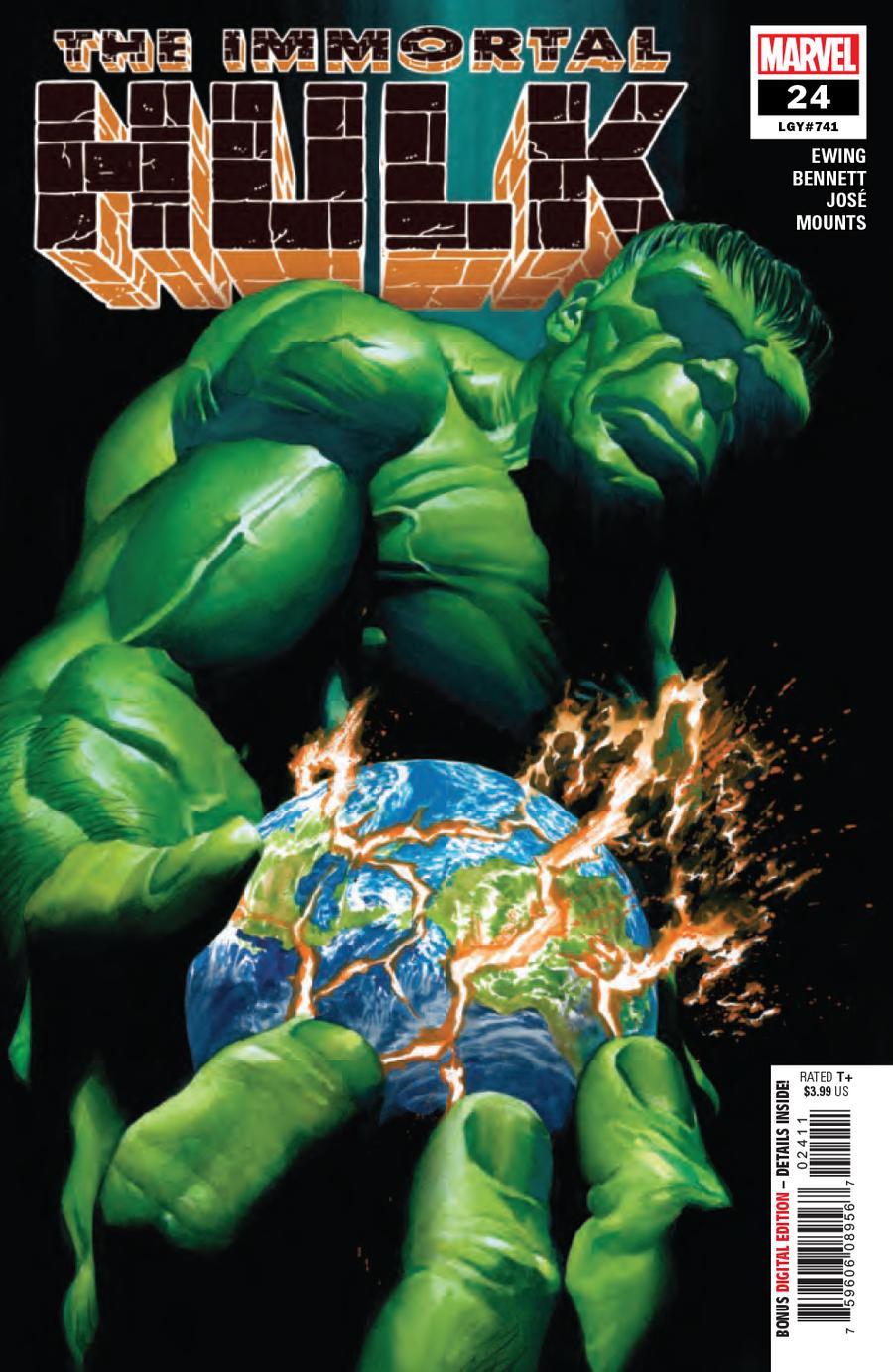 Immortal Hulk #24 Cover A 1st Ptg Regular Alex Ross Cover