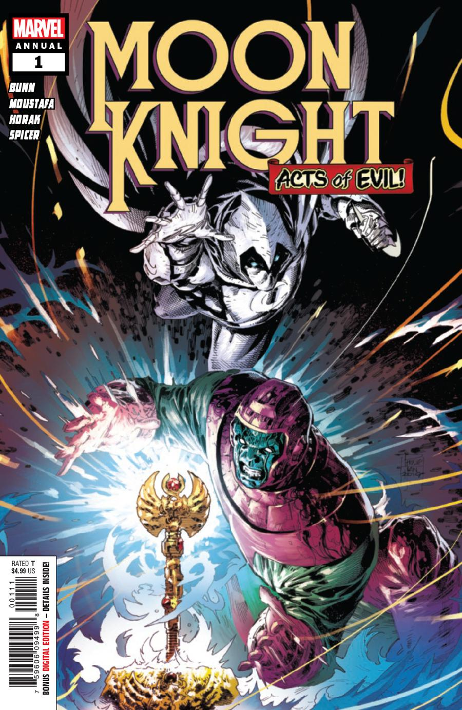 Moon Knight Vol 8 Annual #1 Cover A Regular Philip Tan Cover (Acts Of Evil Tie-In)