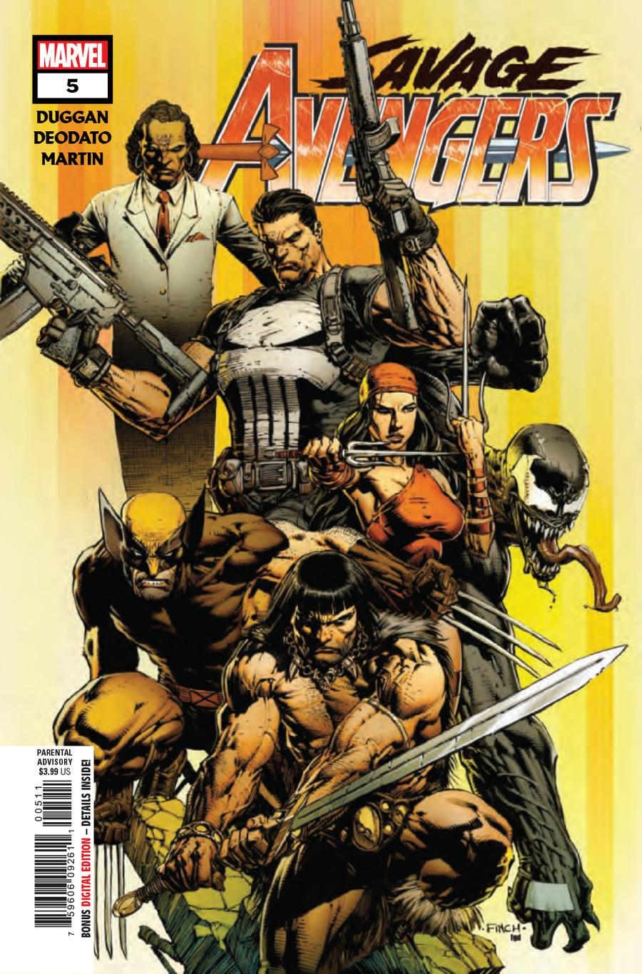 Savage Avengers #5 Cover A 1st Ptg Regular David Finch Cover