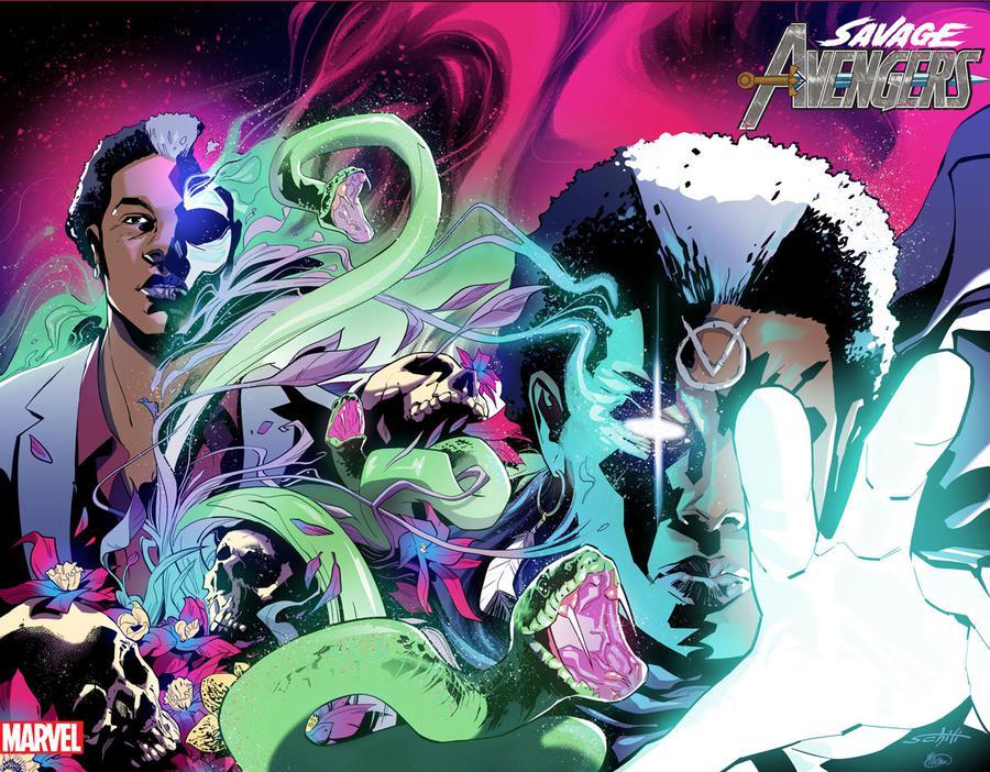 Savage Avengers #5 Cover B Variant Valerio Schiti Immortal Wraparound Cover