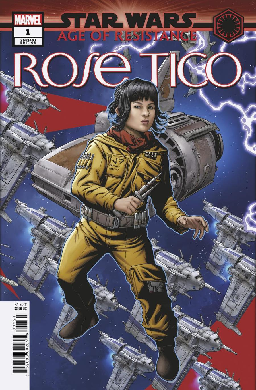Star Wars Age Of Resistance Rose Tico #1 Cover B Variant Mike McKone Puzzle Piece Cover