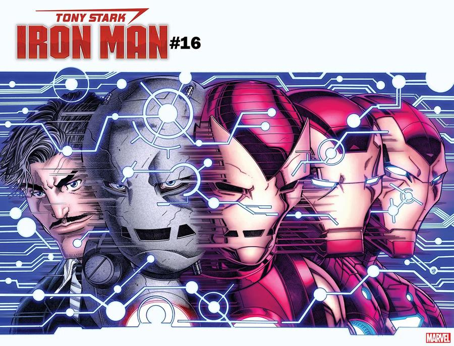 Tony Stark Iron Man #16 Cover B Variant Nick Bradshaw Immortal Wraparound Cover