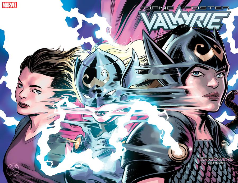Valkyrie Jane Foster #3 Cover B Variant David Lopez Immortal Wraparound Cover