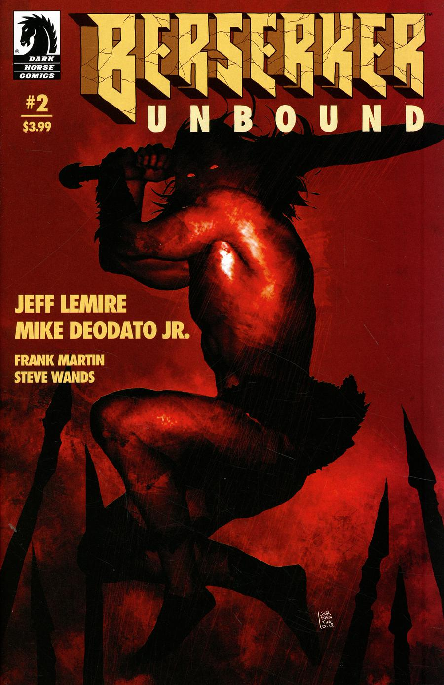 Berserker Unbound #2 Cover B Variant Andrea Sorrentino Cover