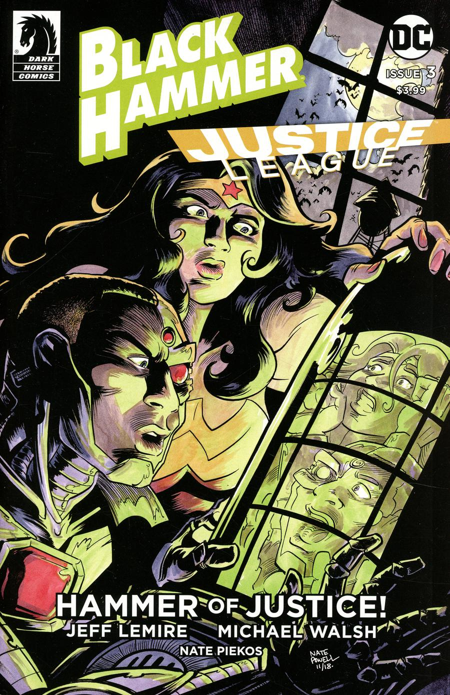 Black Hammer Justice League Hammer Of Justice #3 Cover B Variant Nate Powell Cover