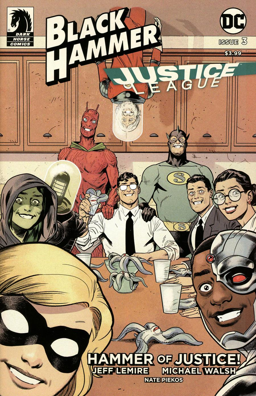 Black Hammer Justice League Hammer Of Justice #3 Cover E Variant Evan Shaner Cover