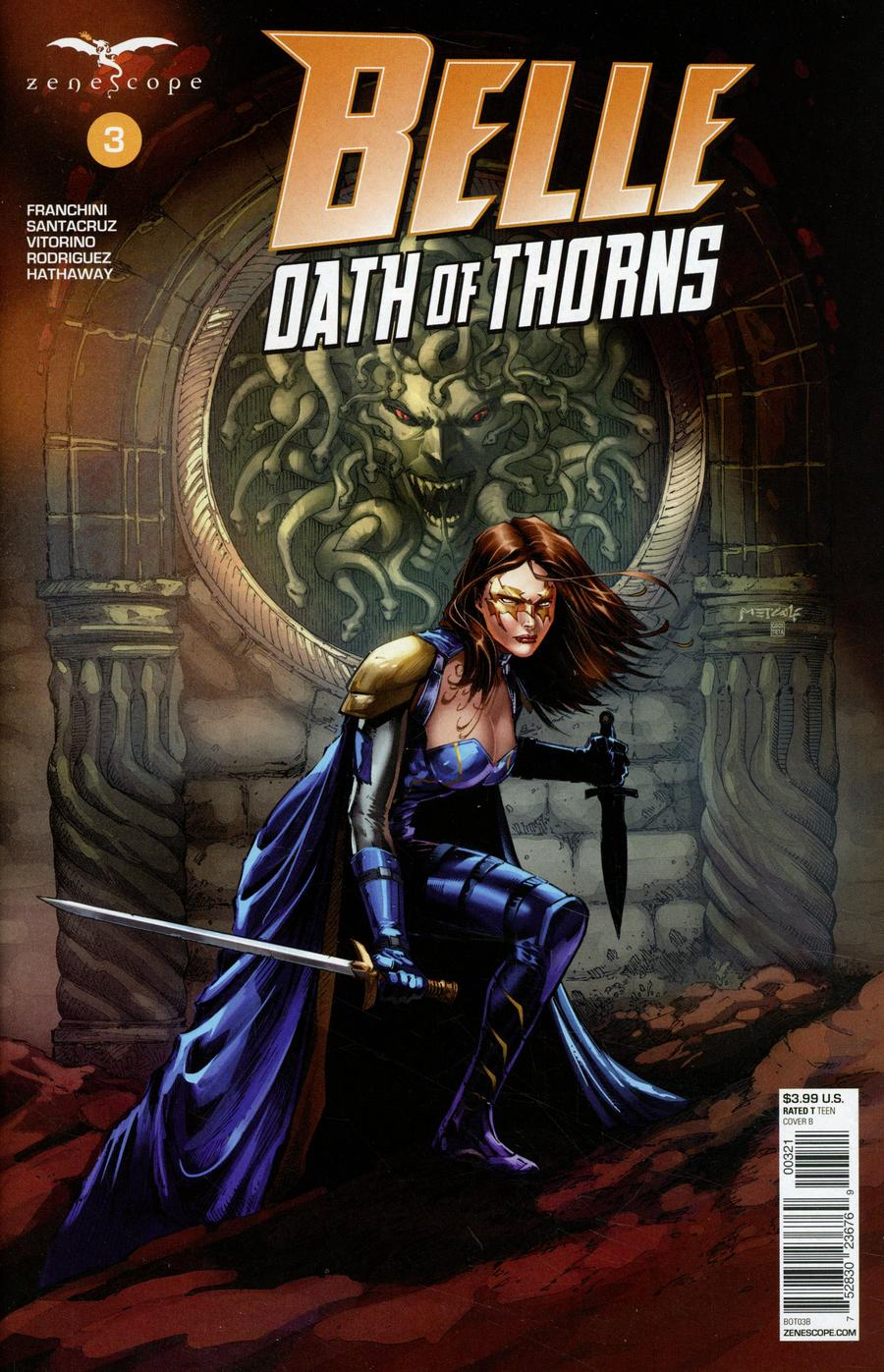 Grimm Fairy Tales Presents Belle Oath Of Thorns #3 Cover B Jason Metcalf