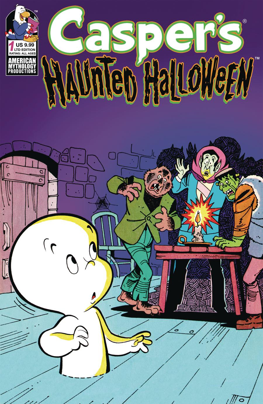 Caspers Haunted Halloween #1 Cover B Limited Edition Retro Animation Variant Cover