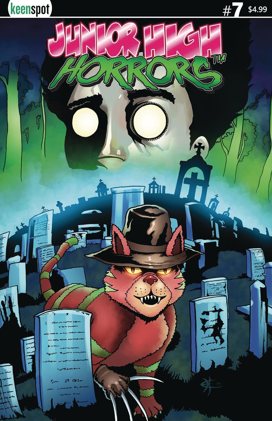Junior High Horrors #7 Cover A Regular Pet Semetary Parody Cover