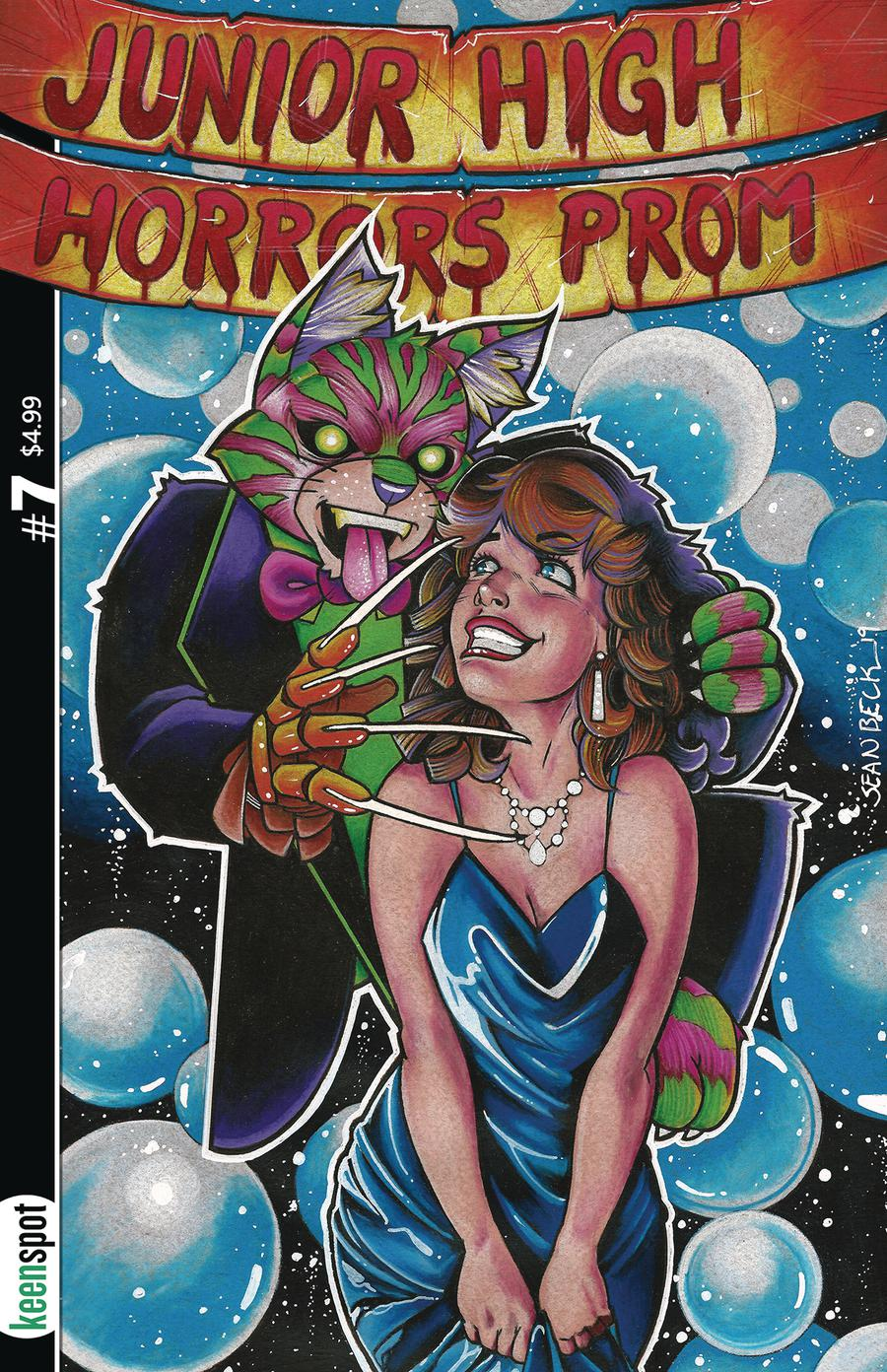 Junior High Horrors #7 Cover C Variant Nightmare On Prom Street Cover