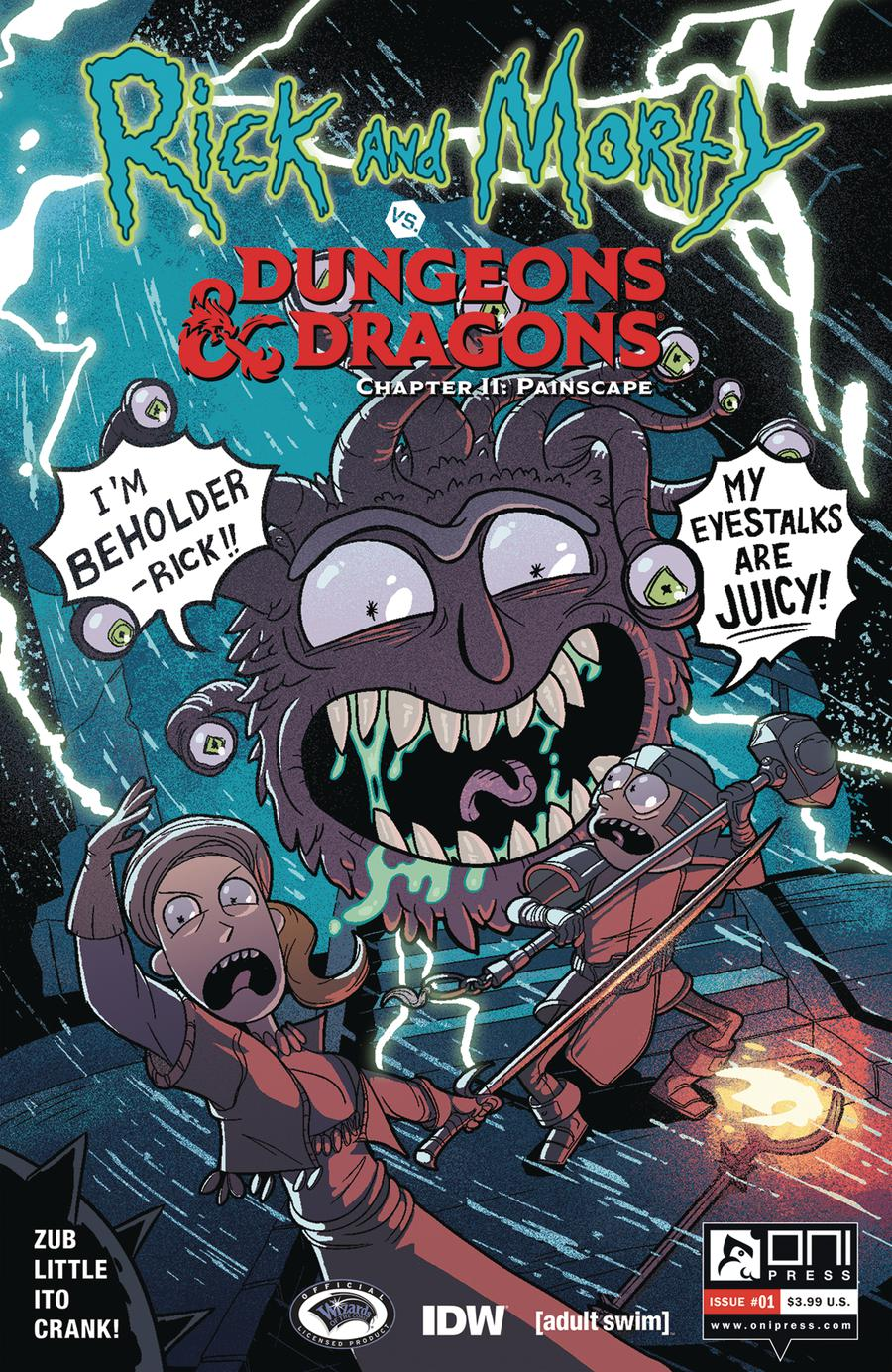Rick And Morty vs Dungeons & Dragons Chapter II Painscape #1 Cover B Variant Jim Zub Cover