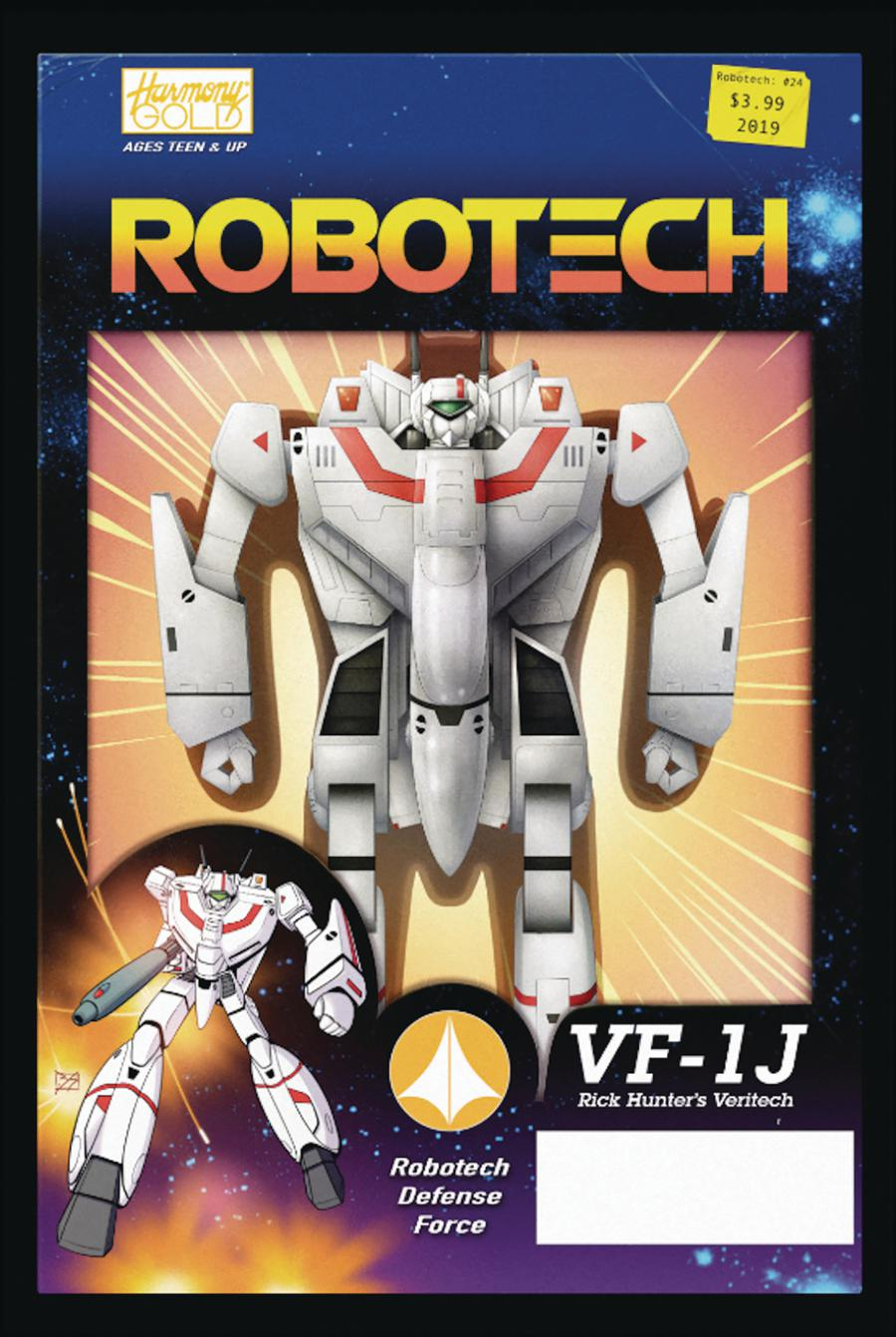 Robotech Vol 3 #24 Cover B Variant Blair Shedd Action Figure Cover