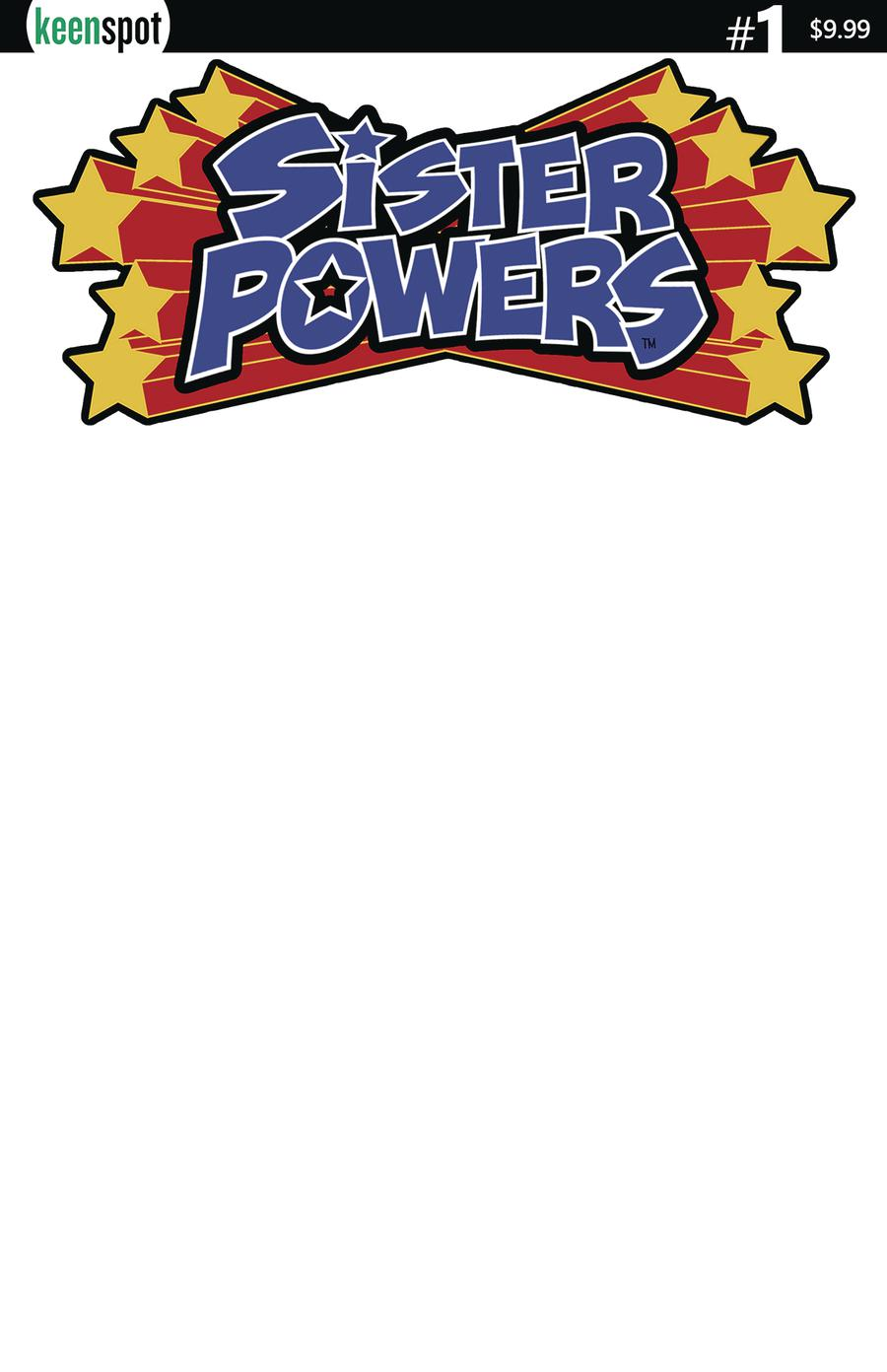 Sister Powers #1 Cover B Variant Blank Cover