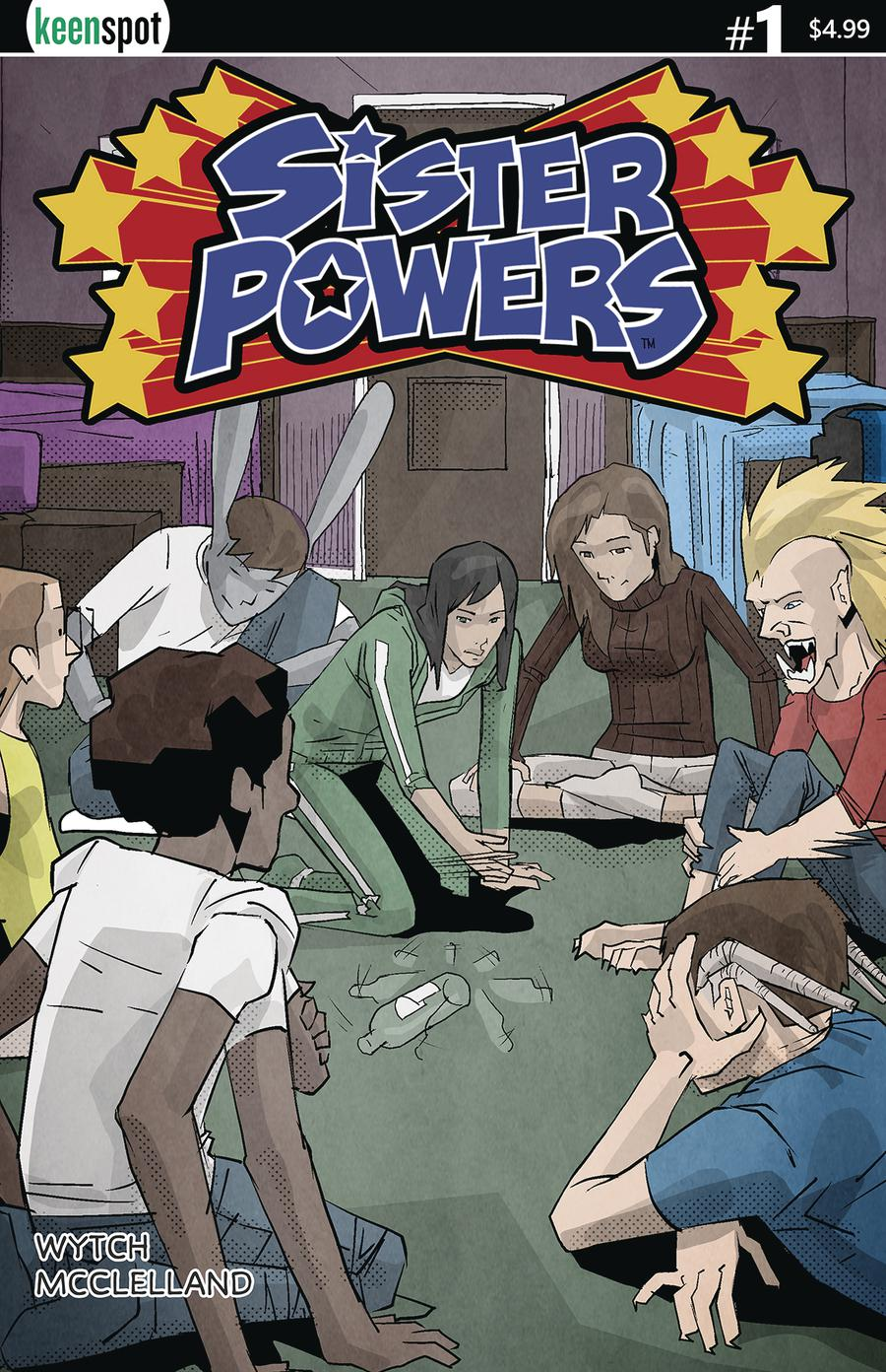 Sister Powers #1 Cover C Variant Spin The Bottle Cover