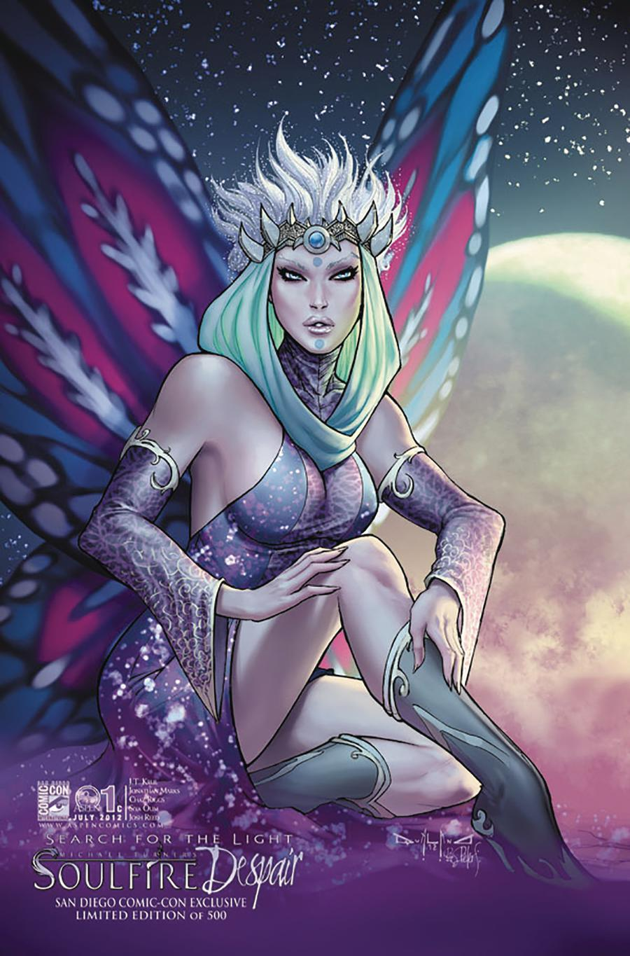 Soulfire Despair #1 Cover C SDCC 2012 Exclusive Limited Edition Pasquale Qualano Variant Cover