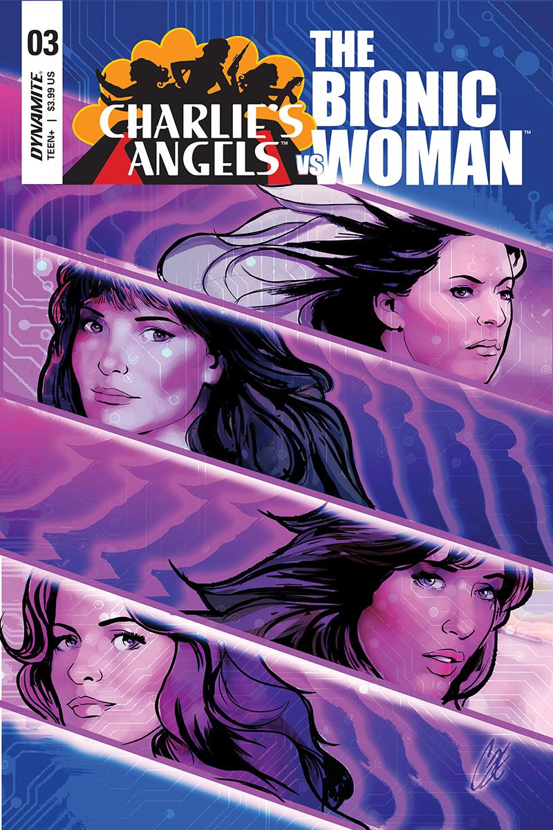 Charlies Angels vs The Bionic Woman #3 Cover A Regular Cat Staggs Cover