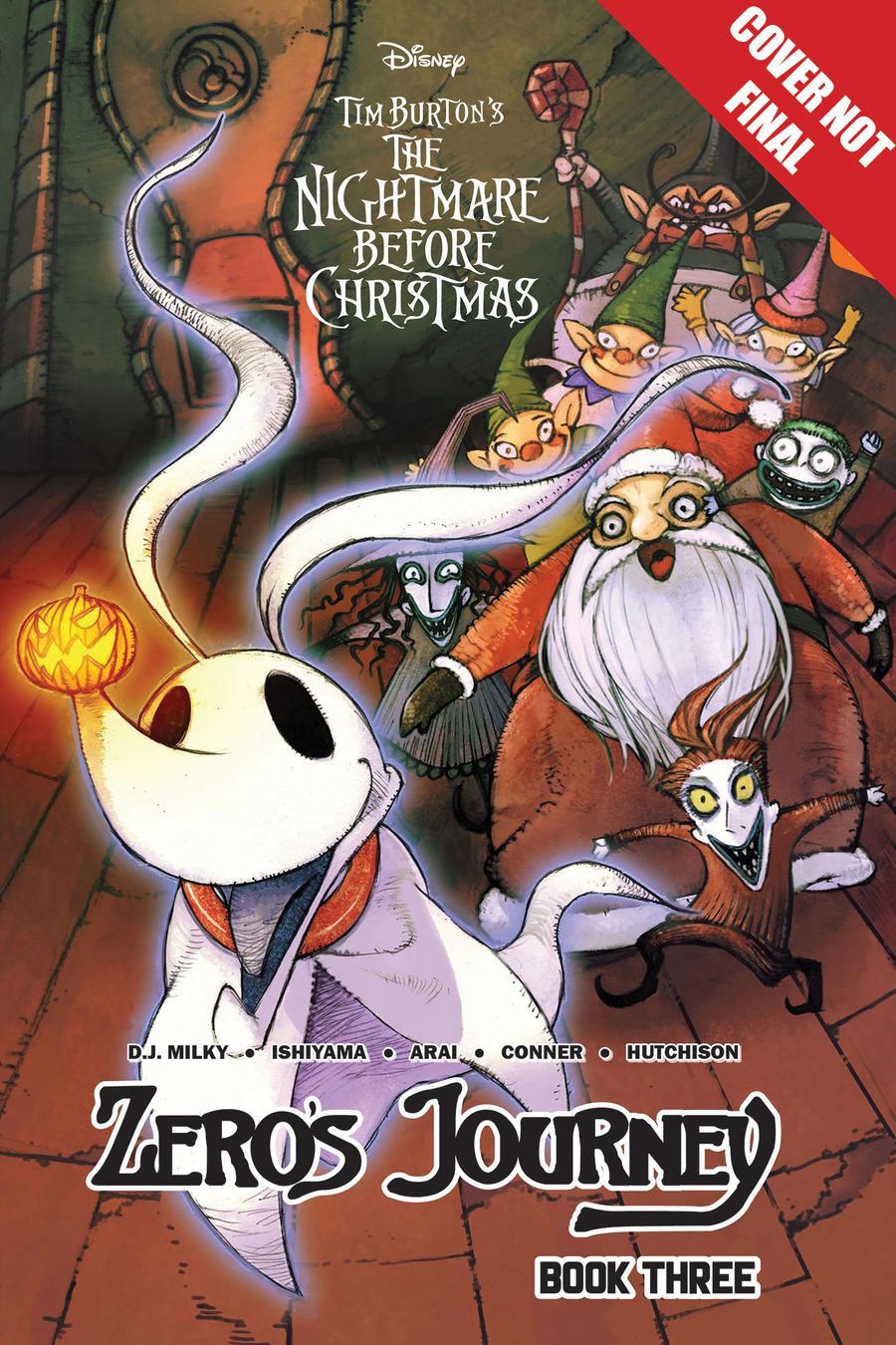 Disney Manga Tim Burtons Nightmare Before Christmas Zeros Journey Vol 3 GN