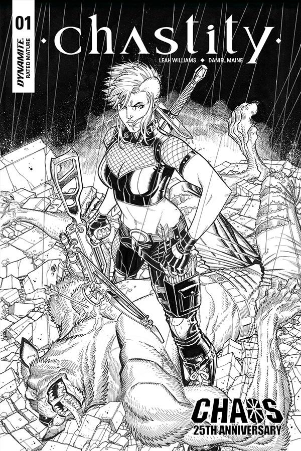 Chastity Vol 2 #1 Cover I Incentive Nick Bradshaw Black & White Cover
