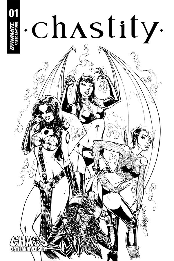 Chastity Vol 2 #1 Cover M Incentive J Scott Campbell Carve Out Black & White Variant Cover