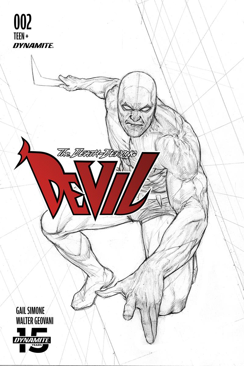 Death-Defying Devil Vol 2 #2 Cover D Incentive Riccardo Federici Black & White Cover
