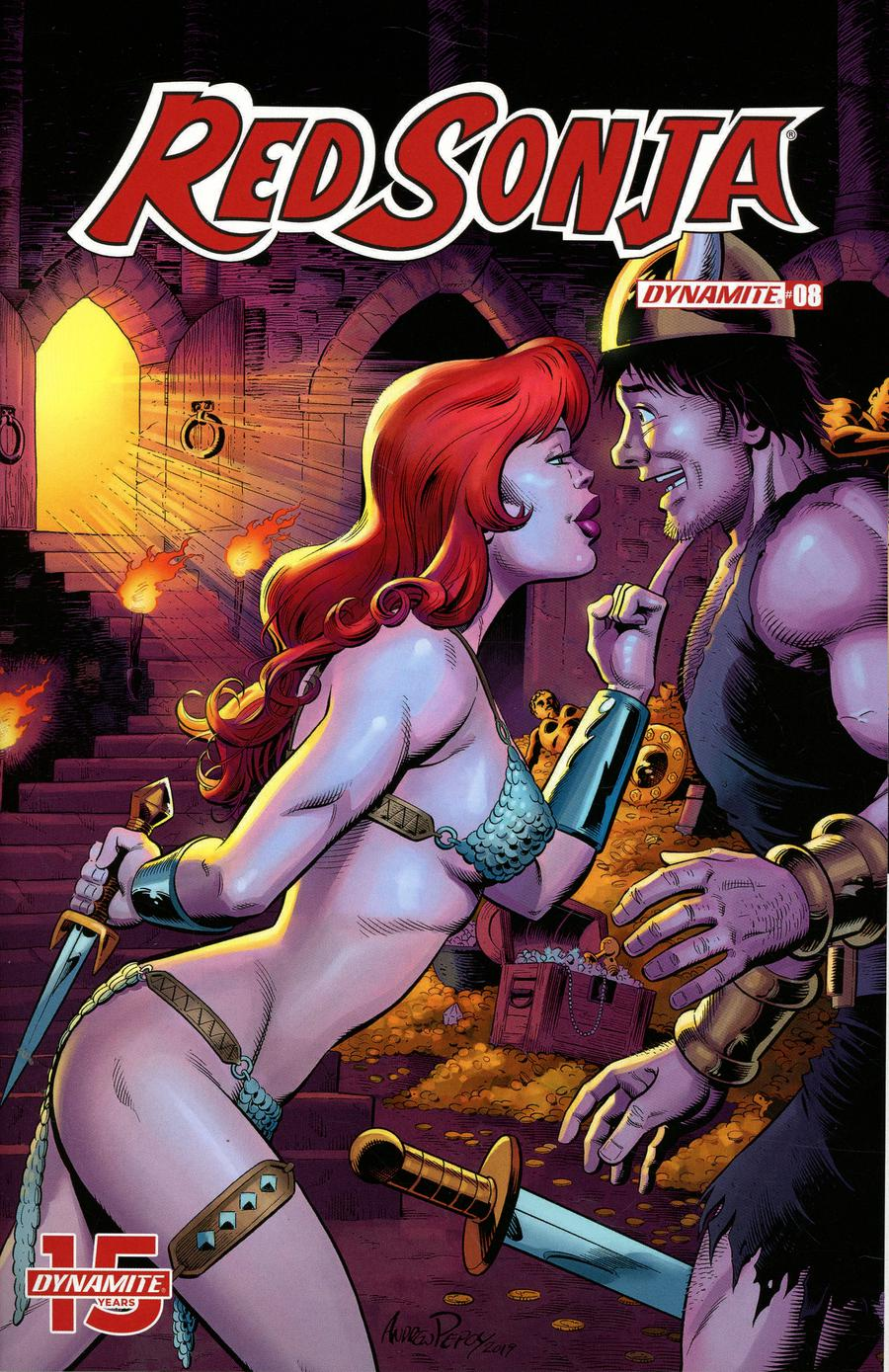 Red Sonja Vol 8 #8 Cover G Incentive Andrew Pepoy Seduction Color Variant Cover