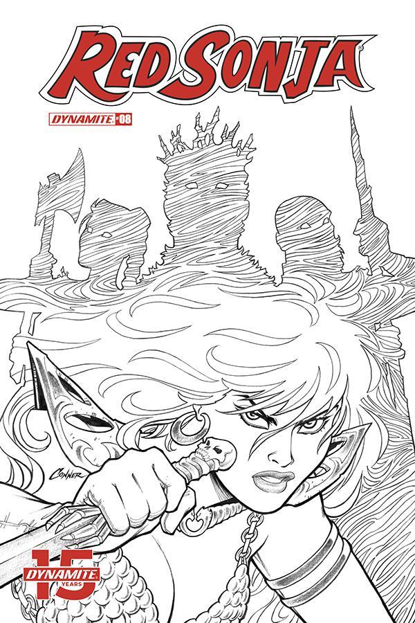 Red Sonja Vol 8 #8 Cover J Incentive Amanda Conner Black & White Cover