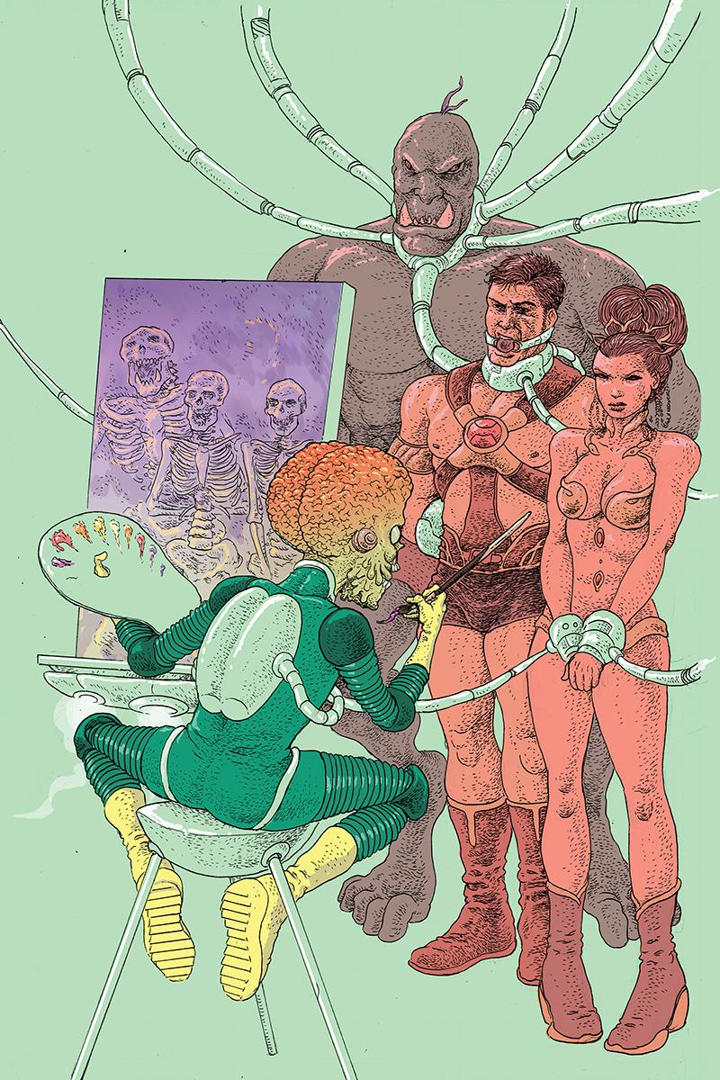 Warlord Of Mars Attacks #4 Cover E Incentive Ramon Villalobos Virgin Cover