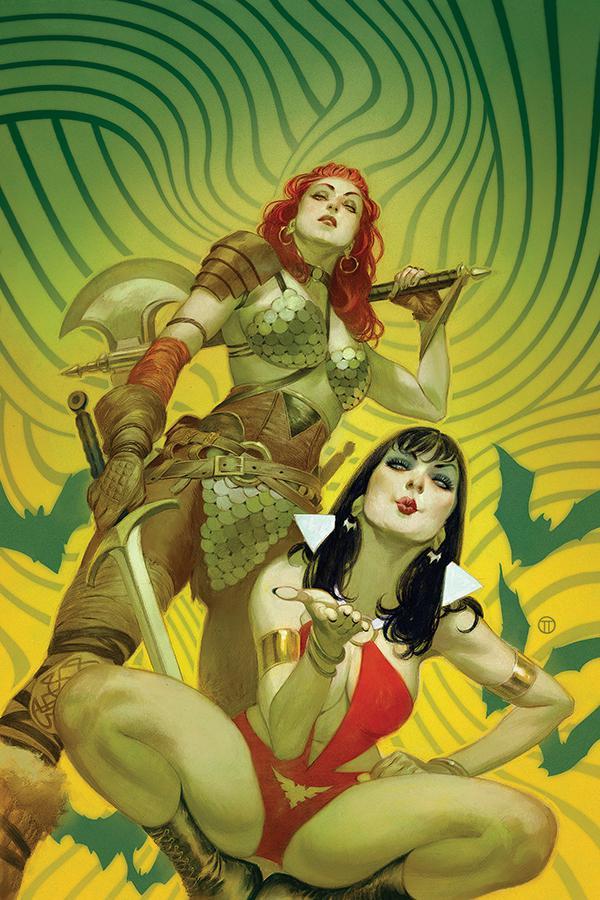Vampirella Red Sonja #1 Cover R High-End Julian Totino Tedesco Virgin Cover