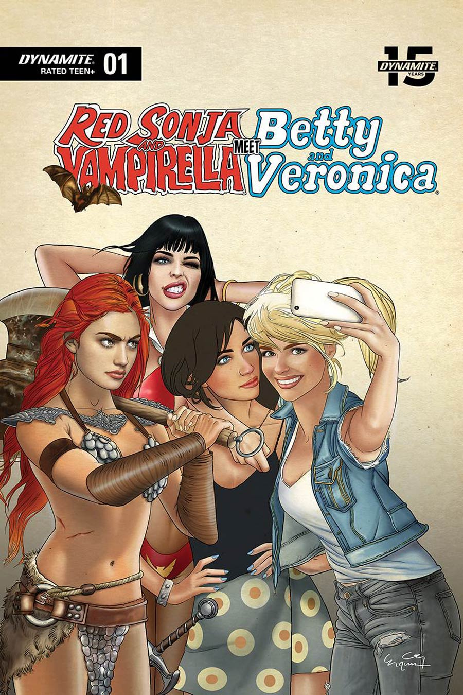 Red Sonja And Vampirella Meet Betty And Veronica #1 Cover W Limited Selfie Variant Cover