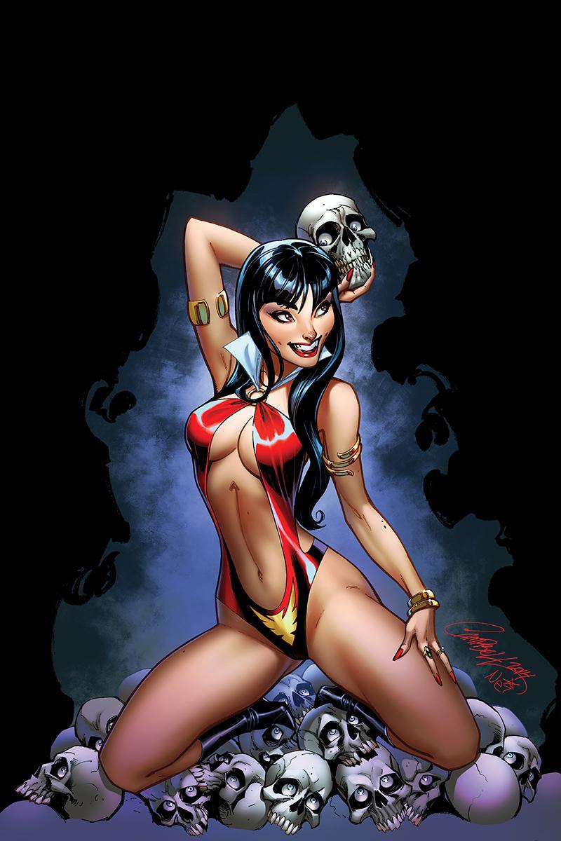 Vampirella Vol 8 #3 Cover P High-End J Scott Campbell Virgin Cover