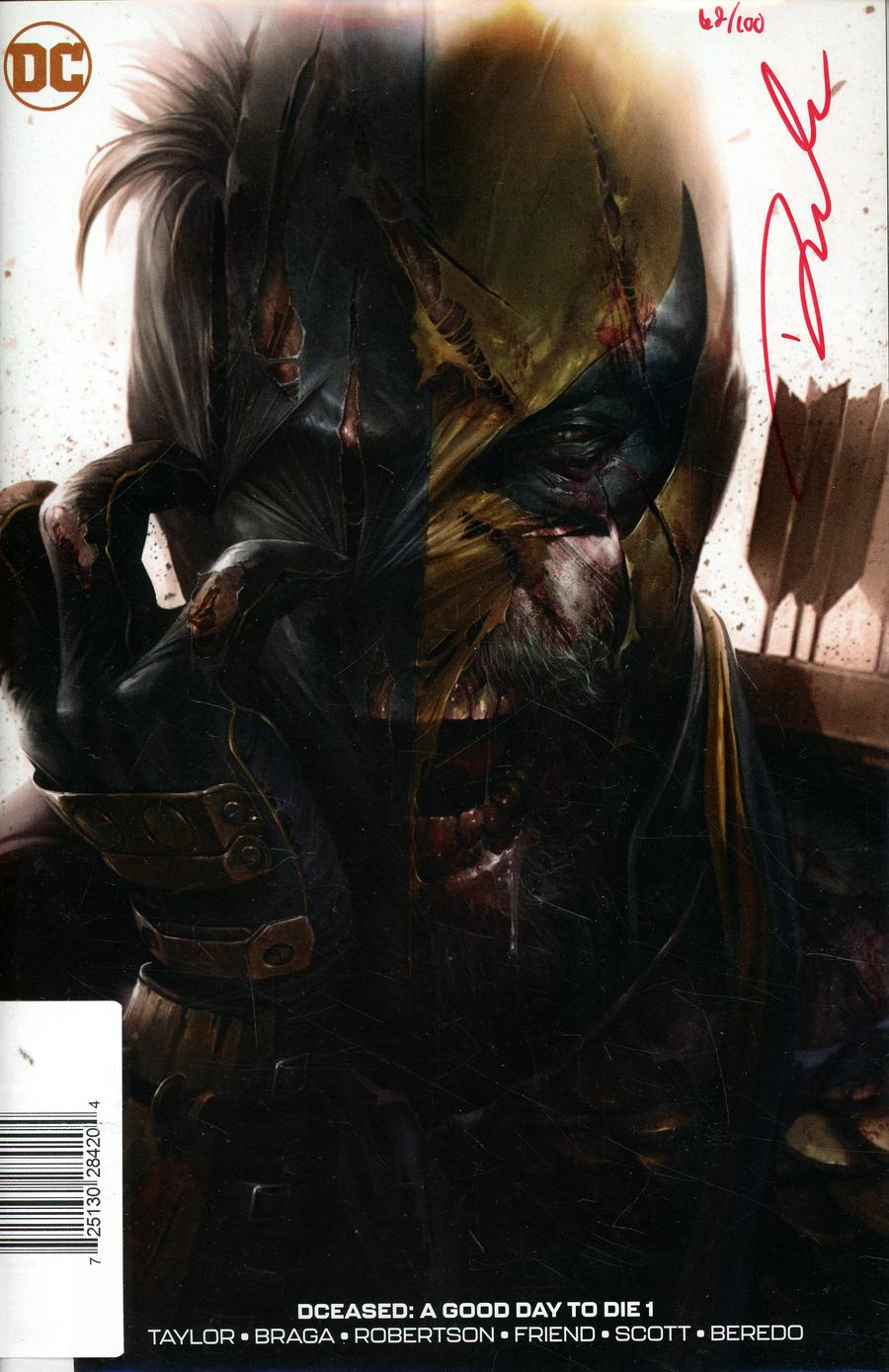 DCeased A Good Day To Die #1 Cover E DF Francesco Mattina Cover Signed By Darick Robertson