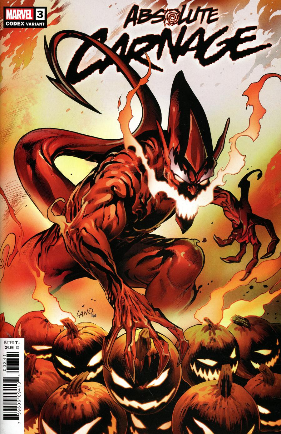 Absolute Carnage #3 Cover F Incentive Greg Land Codex Variant Cover
