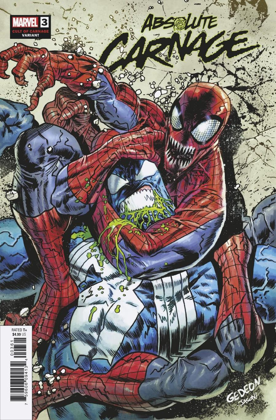 Absolute Carnage #3 Cover G Incentive Juan Gedeon Cult Of Carnage Variant Cover