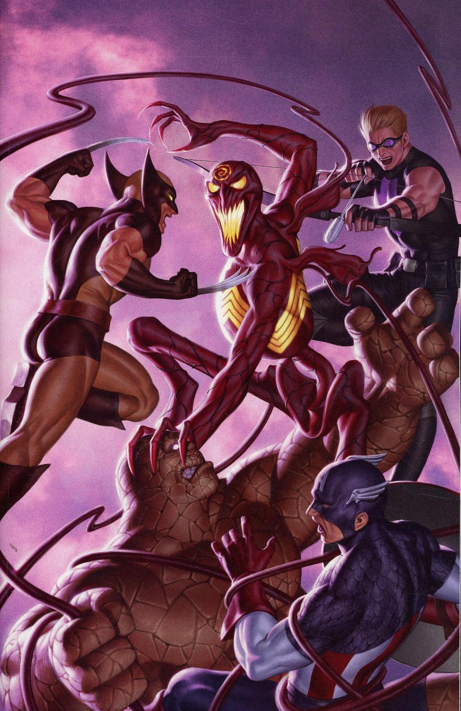 Absolute Carnage Avengers #1 Cover D Incentive Virgin Variant Cover