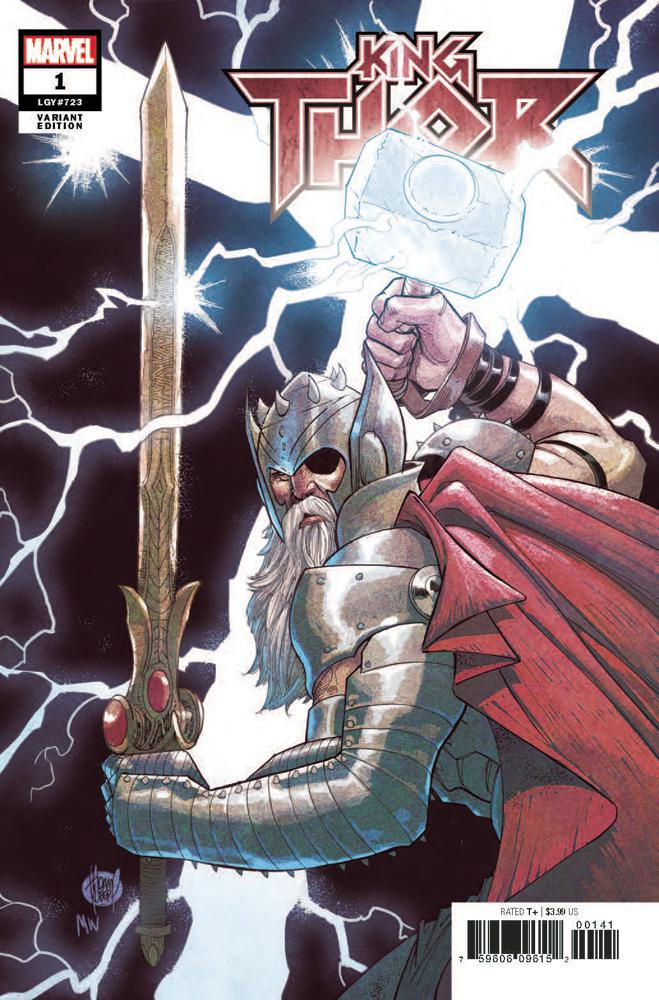 King Thor #1 Cover D Incentive Adam Kubert Variant Cover