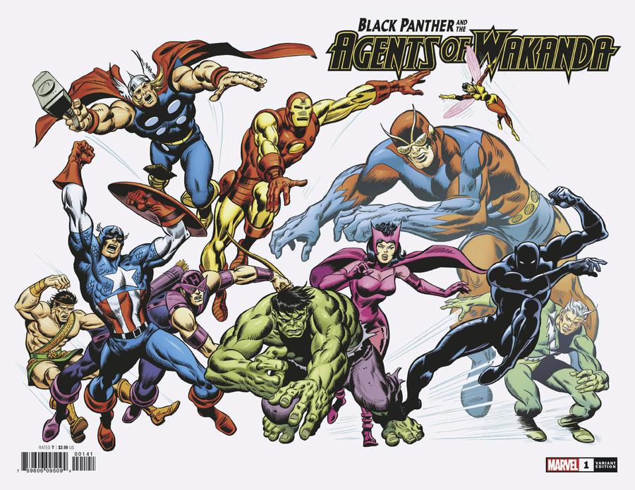 Black Panther And The Agents Of Wakanda #1 Cover E Incentive John Buscema Hidden Gem Variant Cover