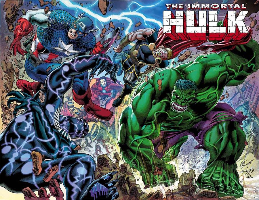 Immortal Hulk #24 Cover B Incentive Joe Bennett Wraparound Variant Cover