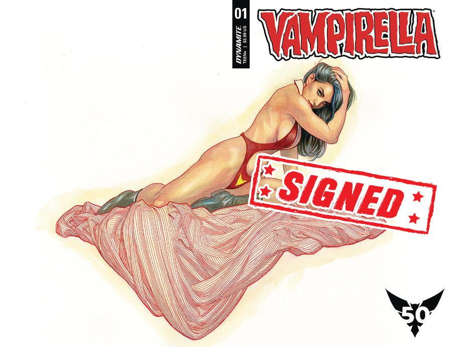 Vampirella Vol 8 #1 Cover Z-C Regular Frank Cho Wraparound Cover Signed By Christopher Priest
