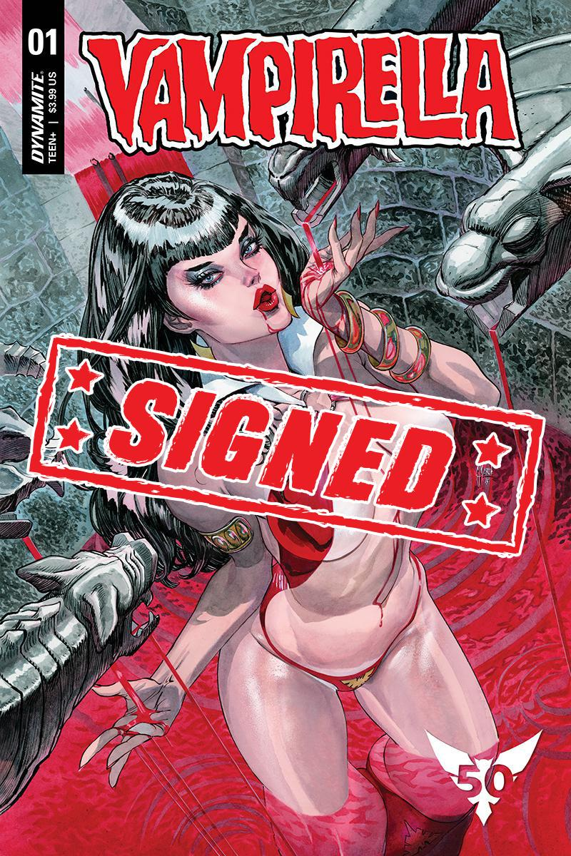 Vampirella Vol 8 #1 Cover Z-F Variant Guillem March Cover Signed By Christopher Priest