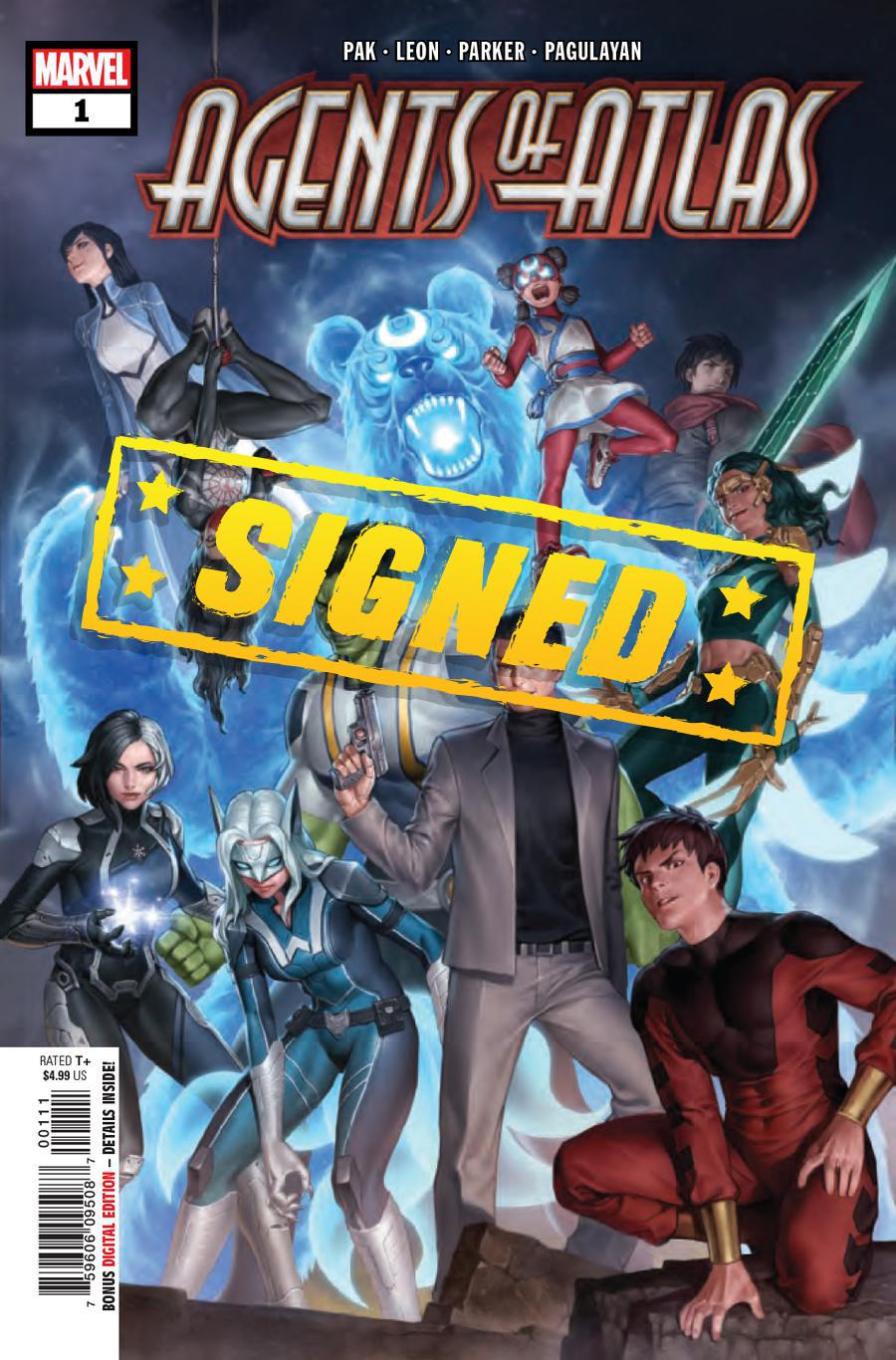 Agents Of Atlas Vol 3 #1 Cover F Regular Jung-Geunyoon Cover Signed By Greg Pak