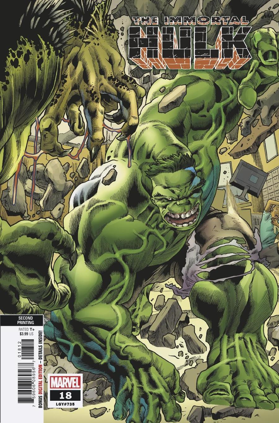 Immortal Hulk #18 Cover C 2nd Ptg Variant Joe Bennett Cover