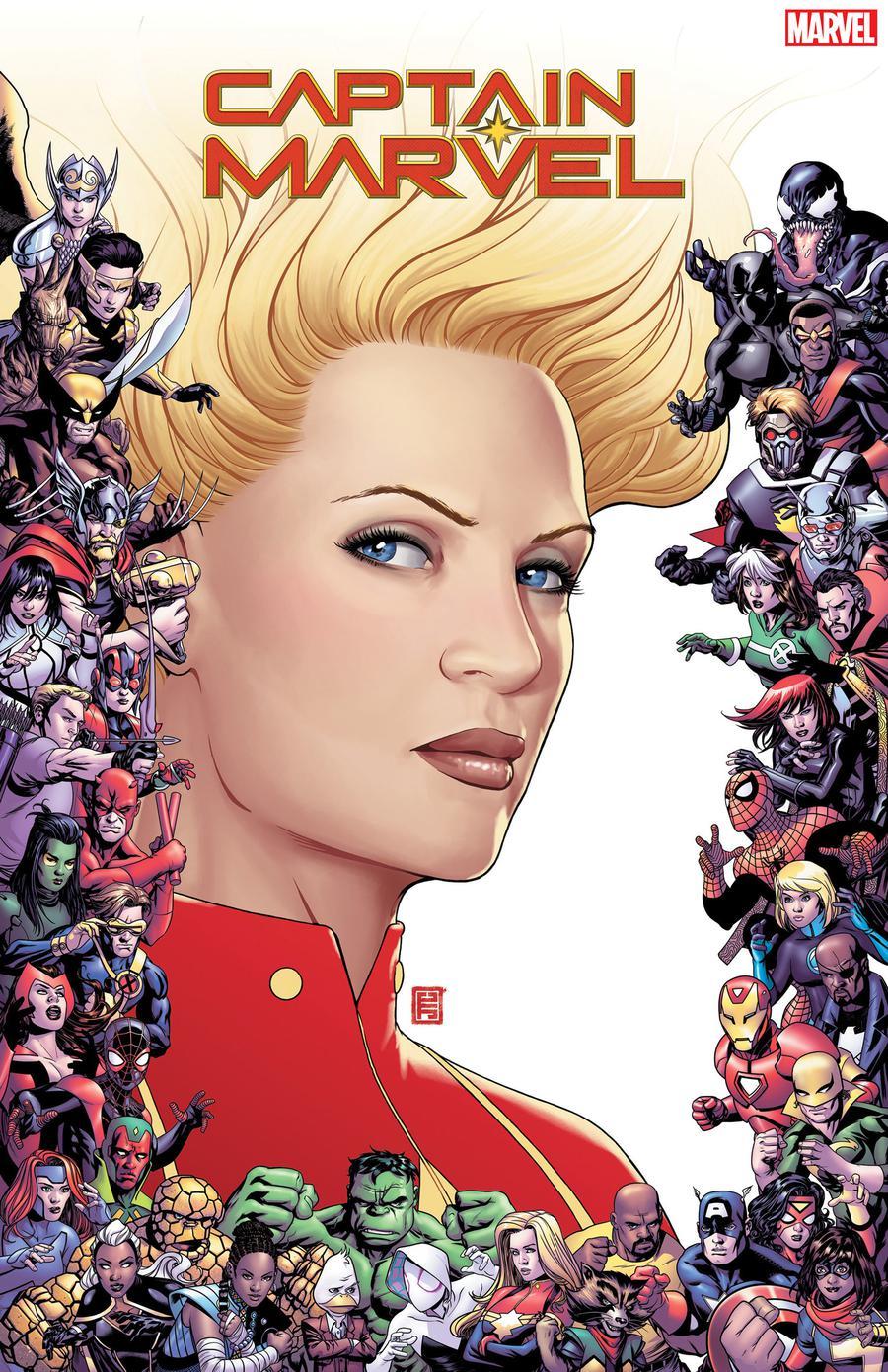 Captain Marvel Vol 9 #9 Cover C Variant John Tyler Christopher Marvel 80th Frame Cover